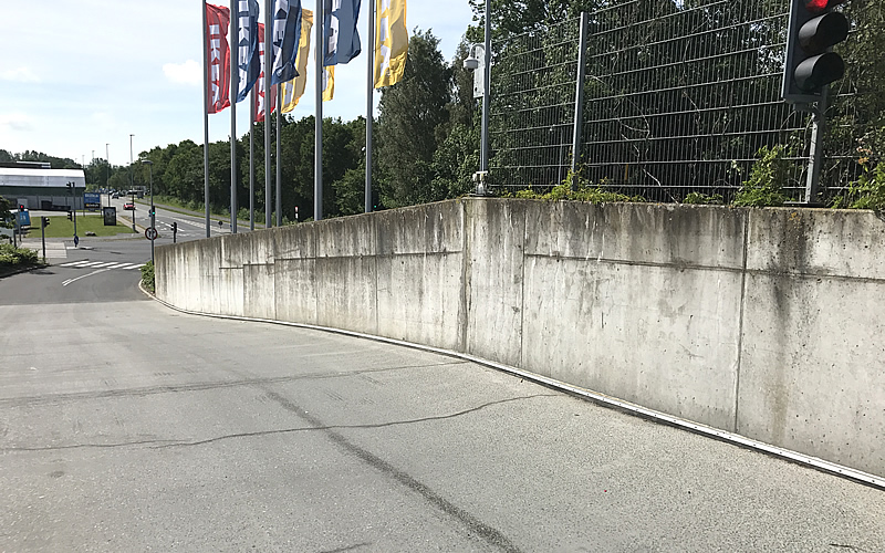 Thorough Cleaning Makes Concrete Walls At Ikea As Good New