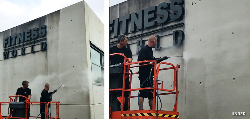 Fitness World under afrensning2